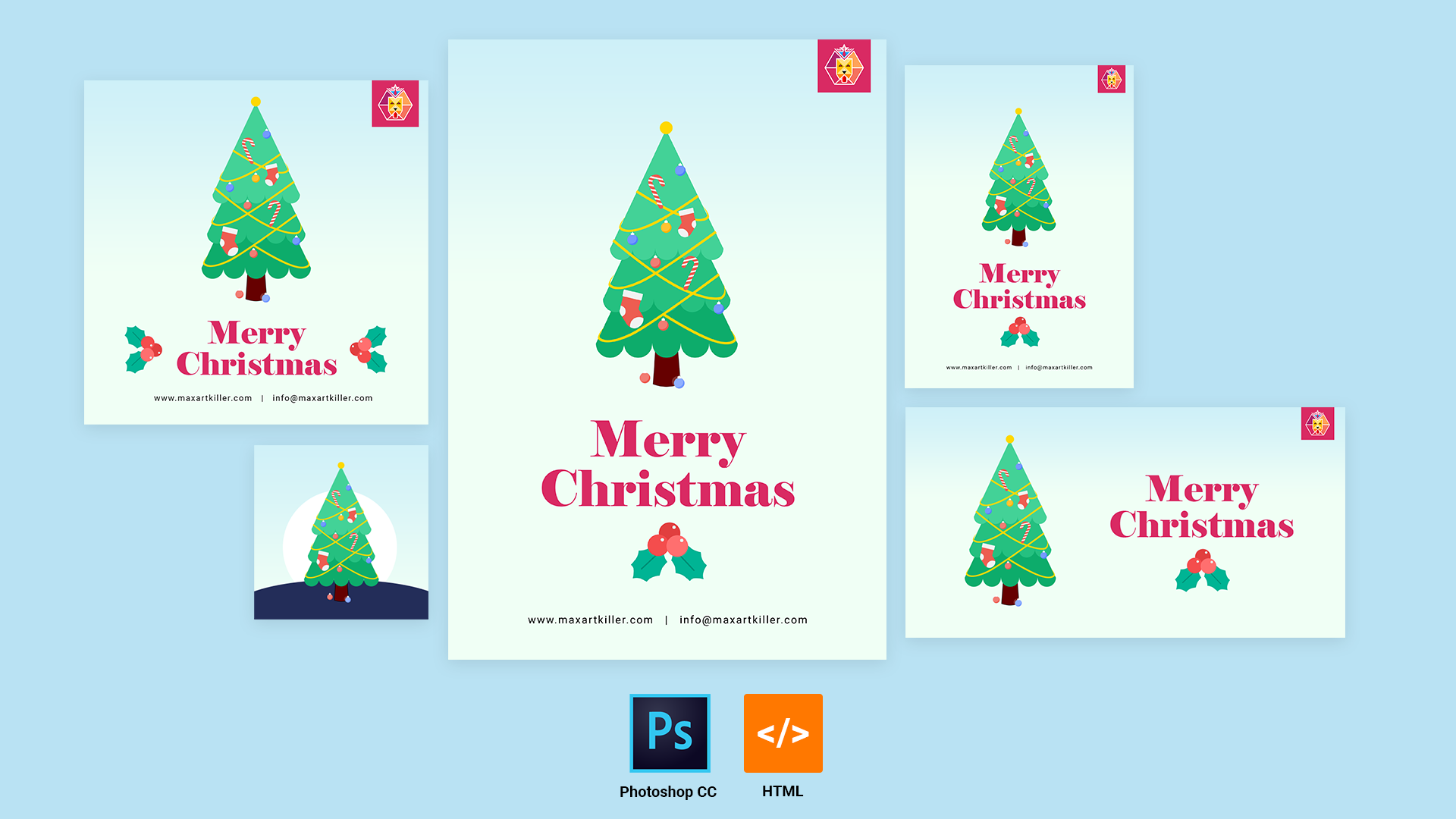 Merry Christmas Greeting Card 2019 | Maxartkiller
